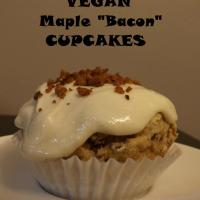 "MAPLE ""BACON"" CUPCAKES- Vegan & Gluten-Free"
