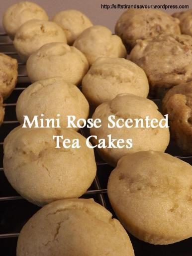 Mini Rose-Scented Tea Cakes