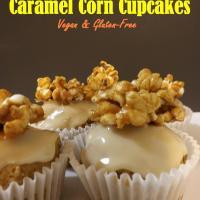 CARAMEL CORN CUPCAKES- Vegan & Gluten-Free