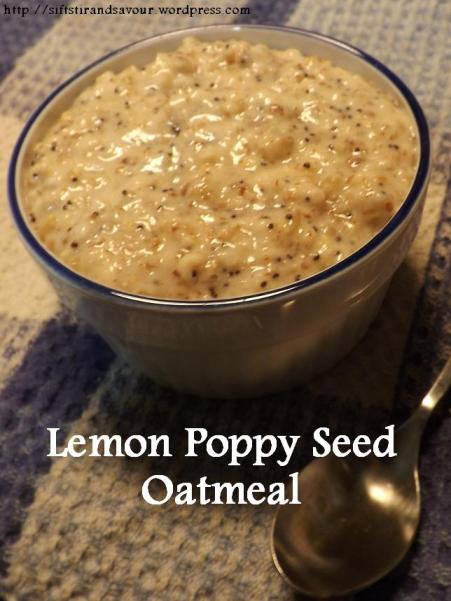 Lemon Poppy Seed Oatmeal