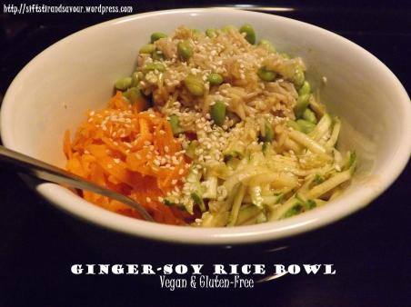 Ginger-Soy Rice Bowl