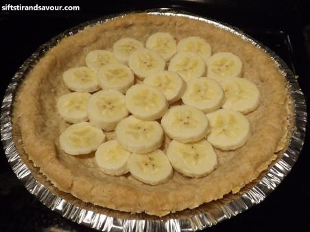 Banana Slices in Pie Crust