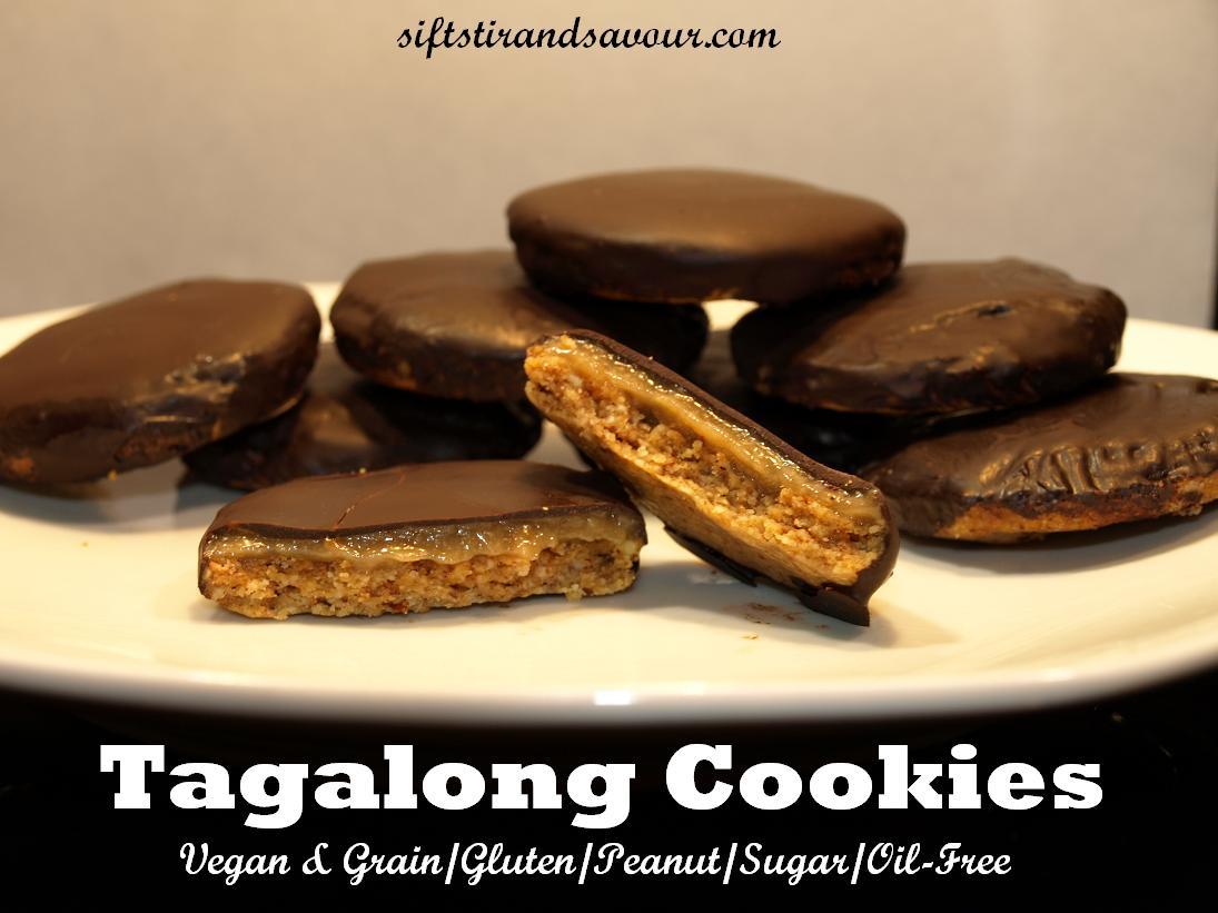 Tagalong cookies vegan grain free peanut free refined sugar free