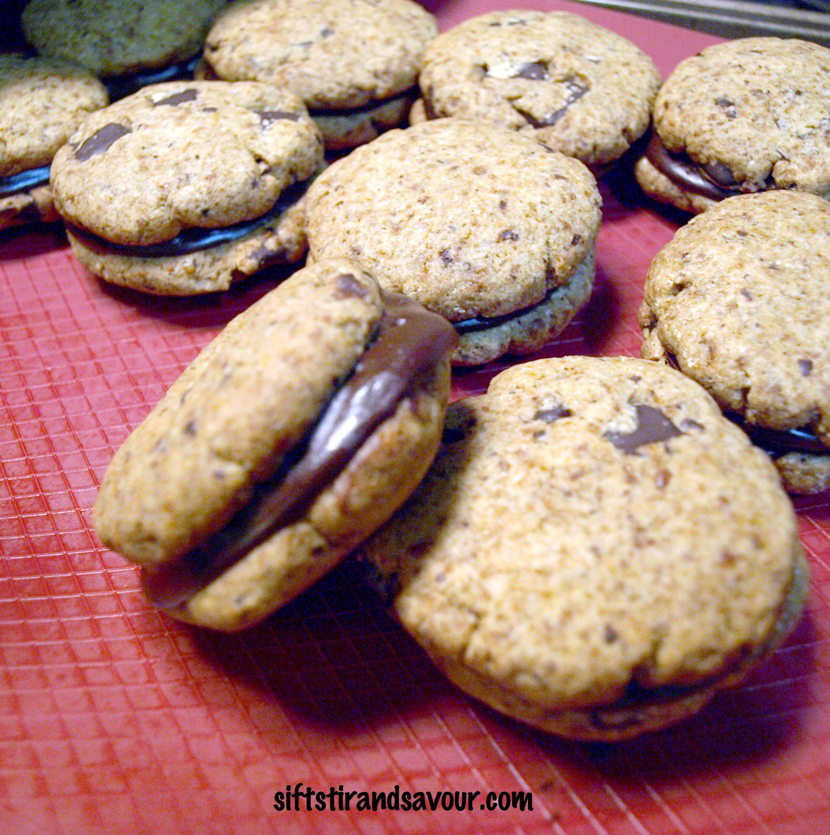 CHOCOLATE CHIP SANDWICH COOKIES- Vegan, Gluten-Free, Refined Sugar ...