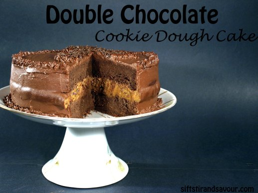 Double Chocolate Cookie Dough Cake