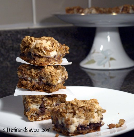 Chocolate Oat Crumble Bars