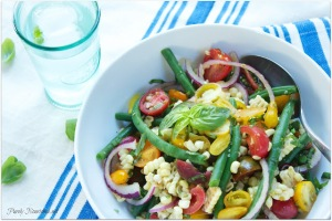 Corn Tomato and Green Bean Salad