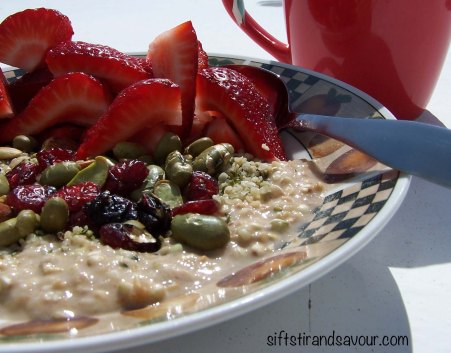 Raw Nut-Free Porridge Close-Up