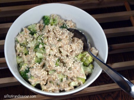 Lemon Broccoli Oatmeal