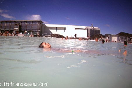 Floating in Blue Lagoon