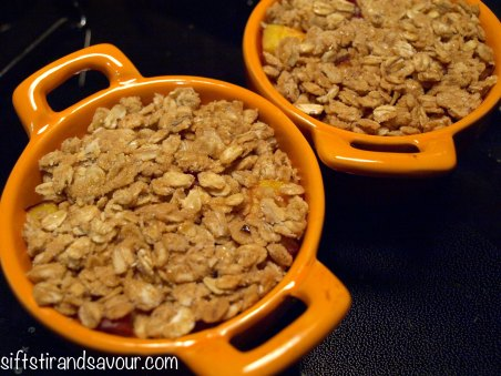 Nectarine Peanut Crumble