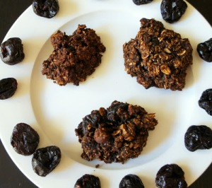 Hazelnut Cherry Carob Cookies