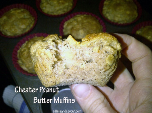 Cheater Peanut Butter Muffins
