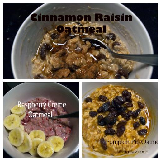 Cinnamon Raisin, Raspberry Creme, Pumpkin Pie