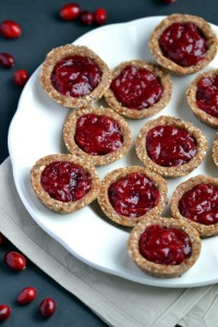 No Bake Cranberry Jam Tarts