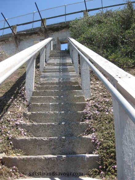 alcatraz stairs; siftstirandsavour.com
