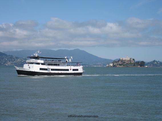boat to alcatraz; siftstirandsavour.com